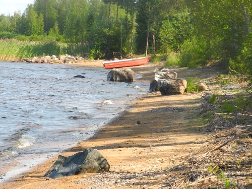 summer lake finland landscape geotagged july shore fin kn kajaani 2014 kainuu oulujärvi 201407 rauhanniemi 20140729 geo:lat=6420865535 geo:lon=2700220585