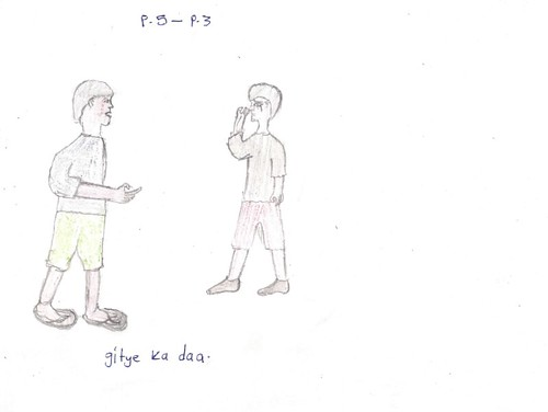 """They are quarreling"" Children drawing 6"