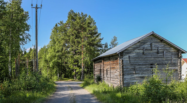 Cabaña en el verano finlandés