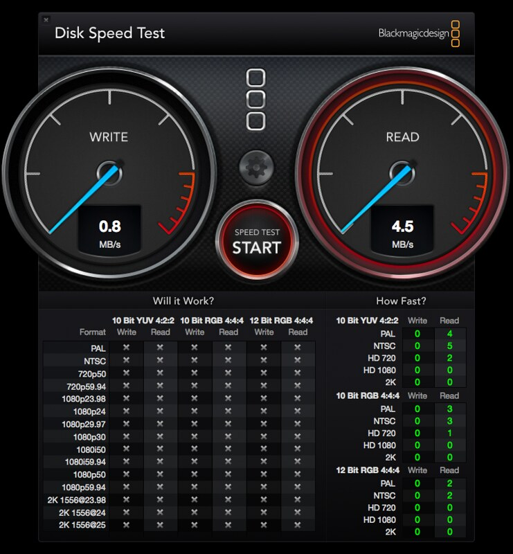 Wireless - Disk Speed Test