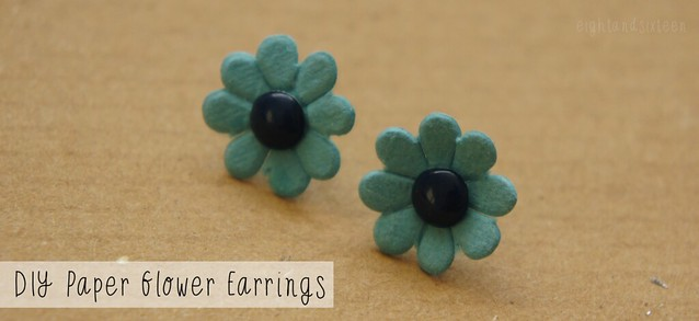 diy paper flower earrings