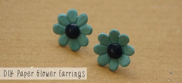 diy paper flower earrings