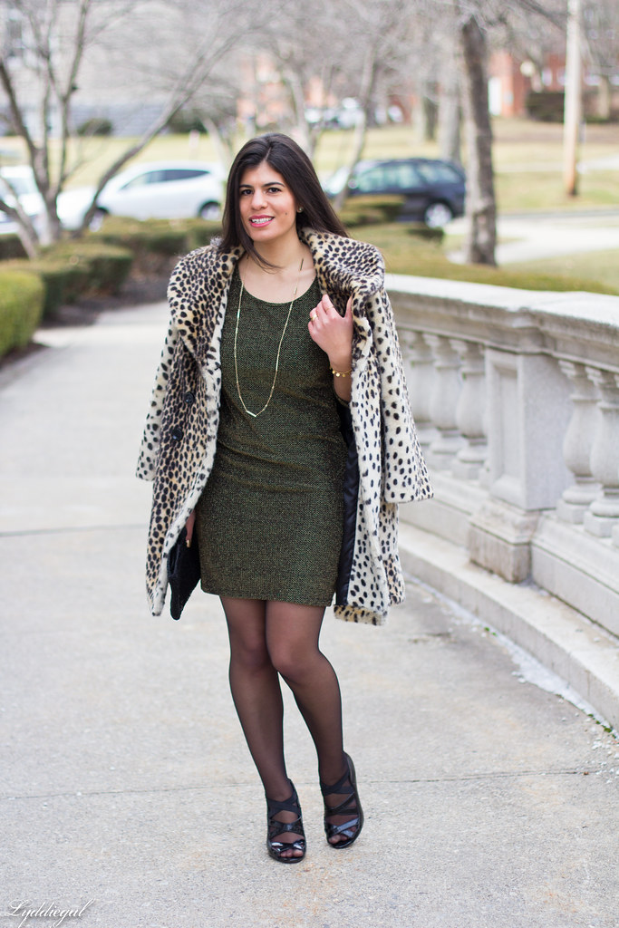 metallic bodycon dress, leopard coat.jpg