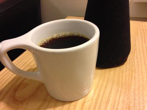 White Mug, Black Coffee Carafe Warmer