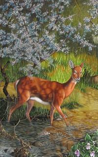 Deer - Chinese Suzhou hand embroidery art painting