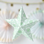 Printed paper star decoration