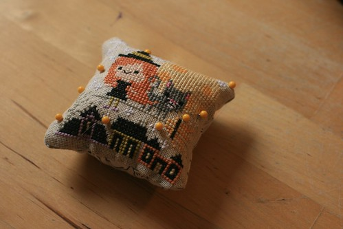 All Hallows' Eve pincushion!