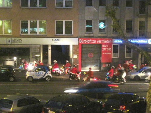 Santa Parade in Cologne