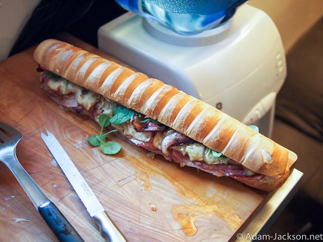 Sandwich Making contest w/ Friends