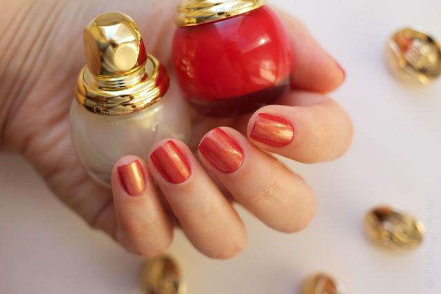 16 Dior Diorific Vernis #022 Mirror over #762 Shock