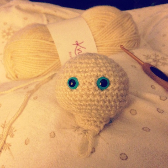 Creepy start to a new crochet project.