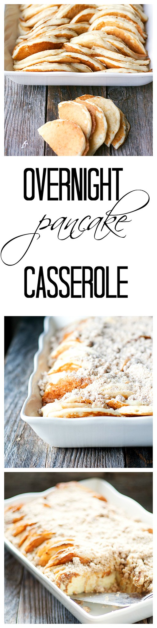 this overnight pancake casserole is an easy way to feed breakfast or brunch to  your hungry crowd