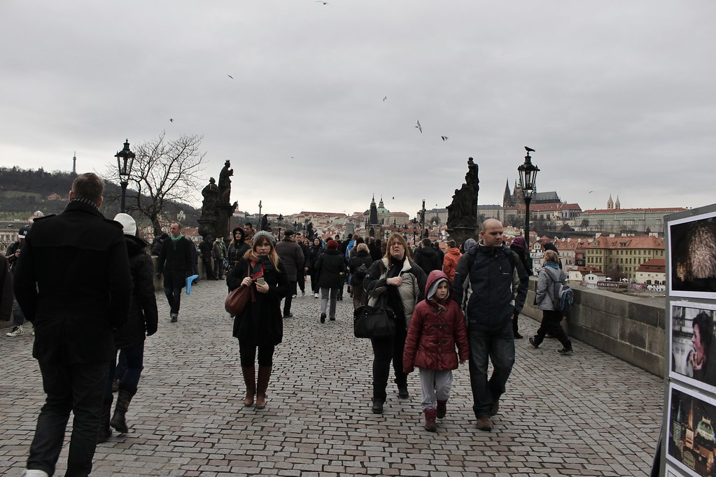 Windy Charles bridge