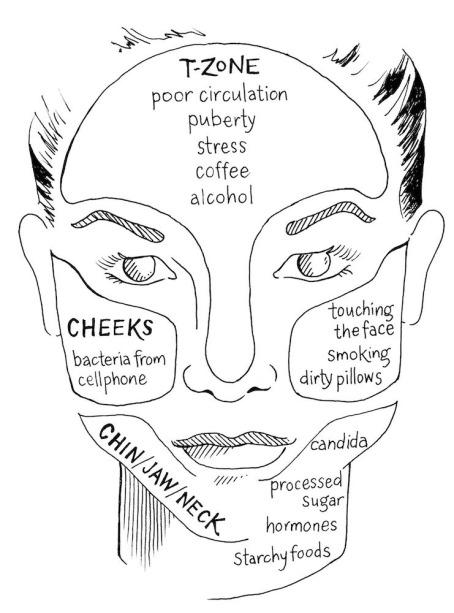 spots face chart map