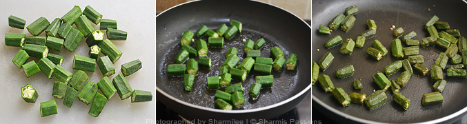 How to make vendakkai sambar - Step2