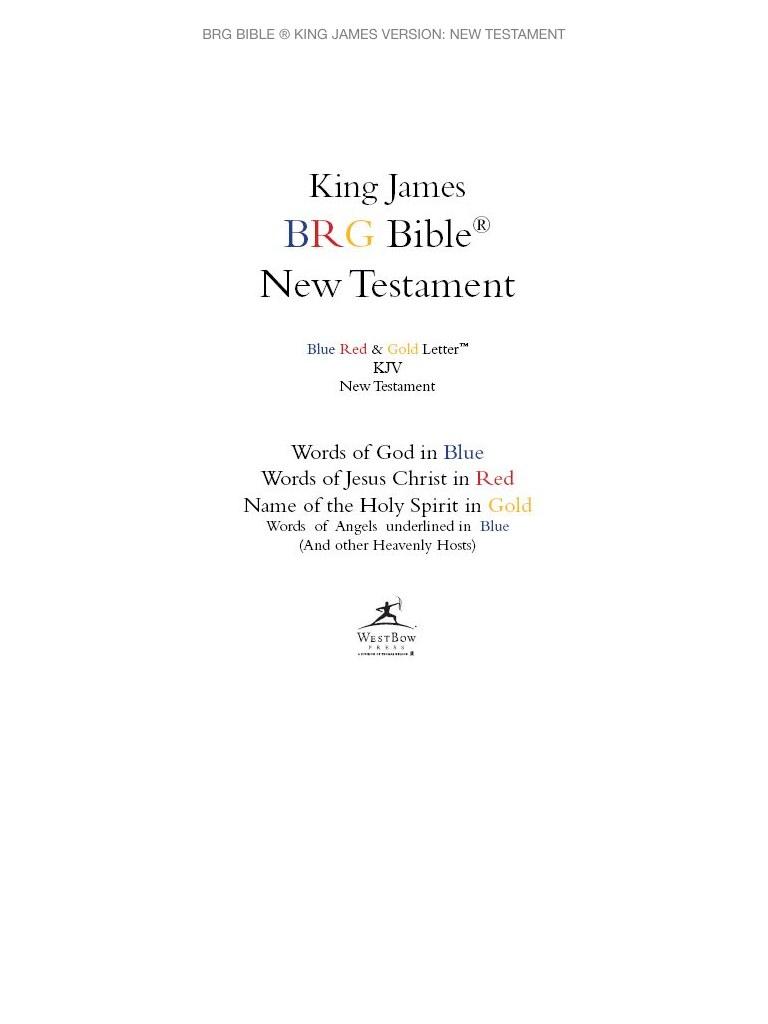 BRG Bible ® King James Version: New Testament