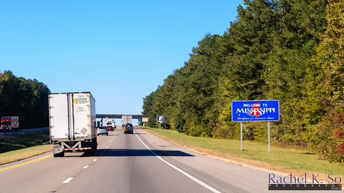 I-20 Westbound, Alabama-Mississippi State Line