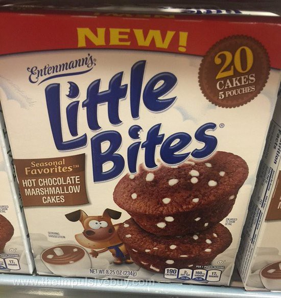 Entenmann's Seasonal Favorites Hot Chocolate Marshmallow Cakes Little Bites