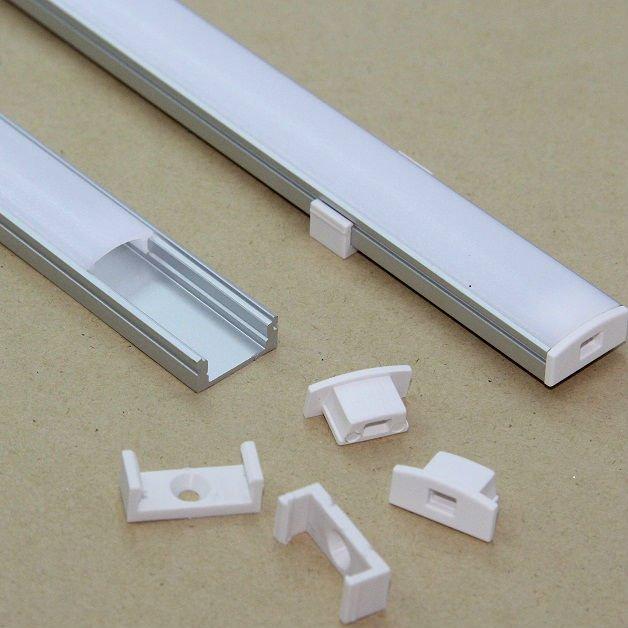 Kit profilo alluminio per barra o strip led 2mt cover for Profilo alluminio led leroy merlin