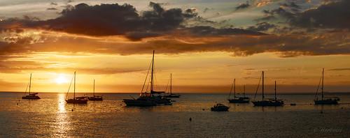 ocean new sunset sea summer cloud sun mer beach landscape island soleil boat nikon yacht wave panoramic master nuage bateau paysage vague plage caledonia maître voilier océan eté îlot d5300 55300mm