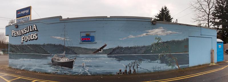 Peninsula Store Mural: Quilcene
