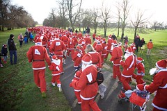 5k Santa Dash at Burghley Park