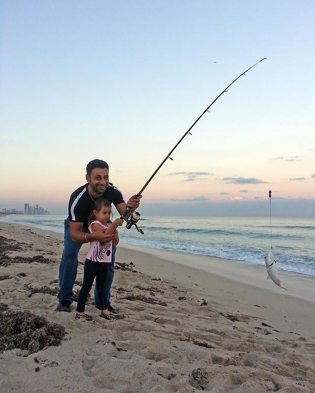 Fishing at Miami Beach