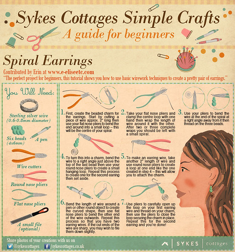 Sykes Cottages Simple Crafts Earrings