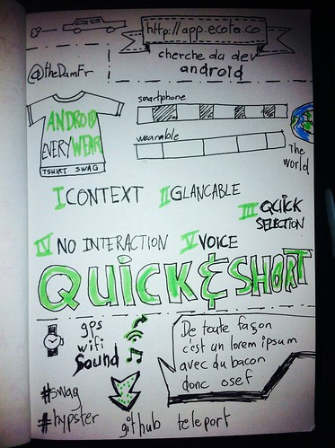 Take off talk sketchnoting android wear