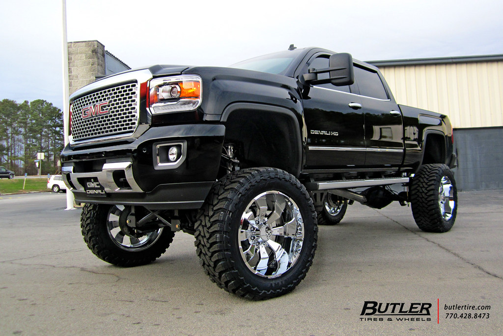 2015 Gmc Sierra 2500hd Denali With 24in Hostile Hammered