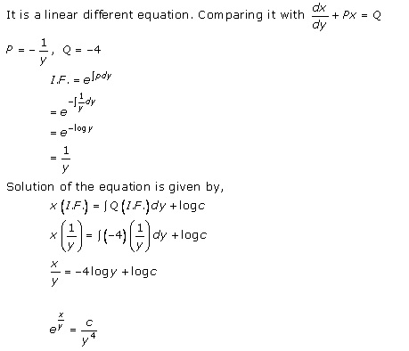 RD Sharma Class 12 Solutions Chapter 22 Differential Equations Ex 22.11 Q16-i
