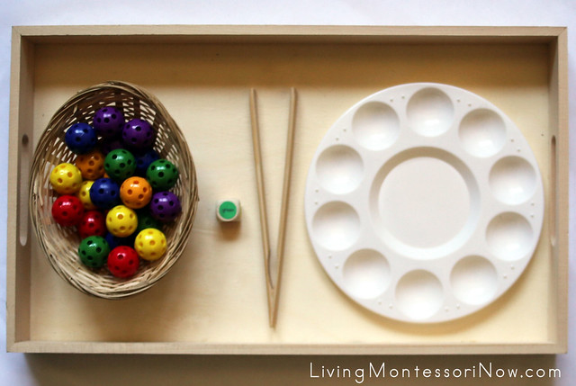 Roll a Color Game and Fine Motor Activity