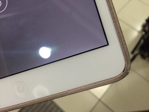 Edge of iPad mini apple original leather case 2