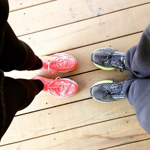 10 mile run with hubby