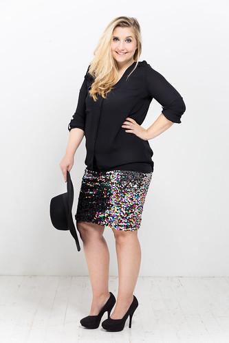 outfit-look-silvester-pailletten-rock-fashionblog-hut-pumps