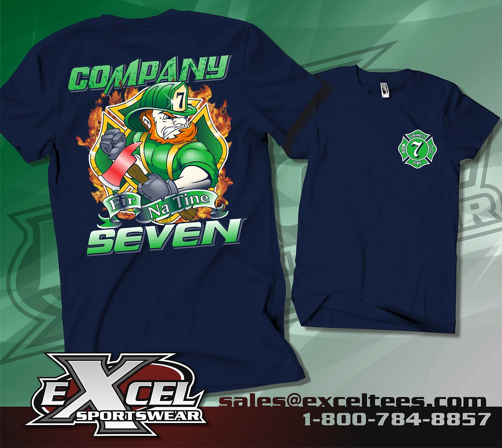 St patrick 39 s day 2015 excel sportswear for Fire department tee shirt designs