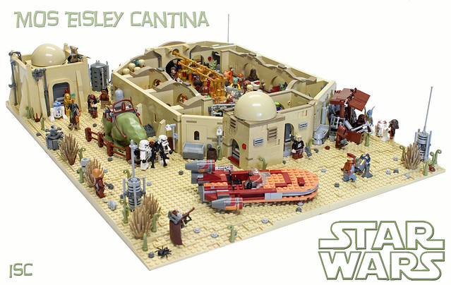 Mos Eisley Cantina, by I Scream Clone, on Eurobricks