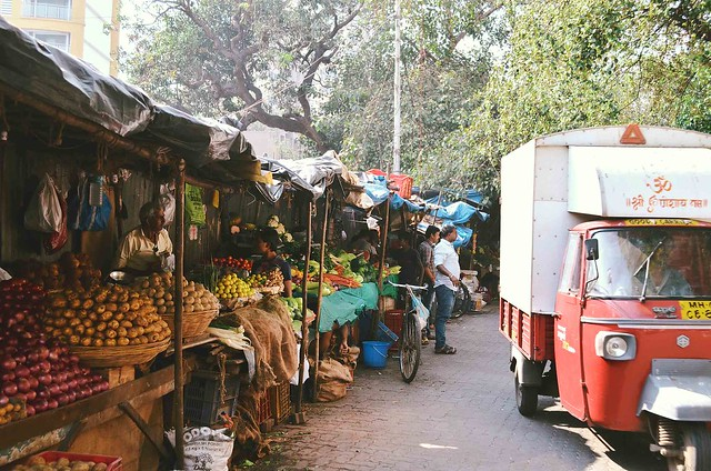 Mumbai Fruit Market | A Brown Table