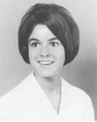 Holy Names girl with a geometric sassoon bob style 1968