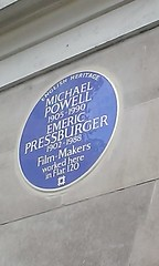 Photo of Michael Powell and Emeric Pressburger blue plaque