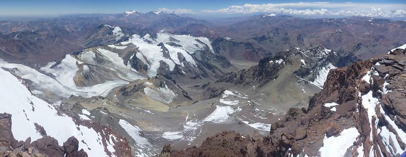 Vue depuis le sommet de l'Aconcagua