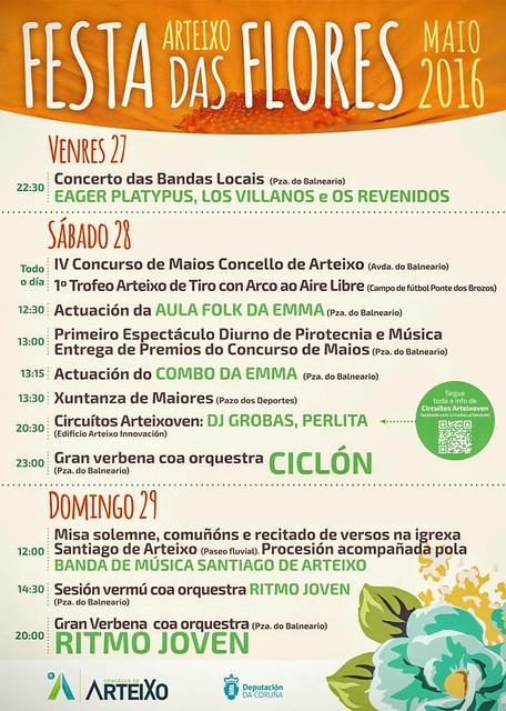 Arteixo 2016 - Festas das Flores- cartel