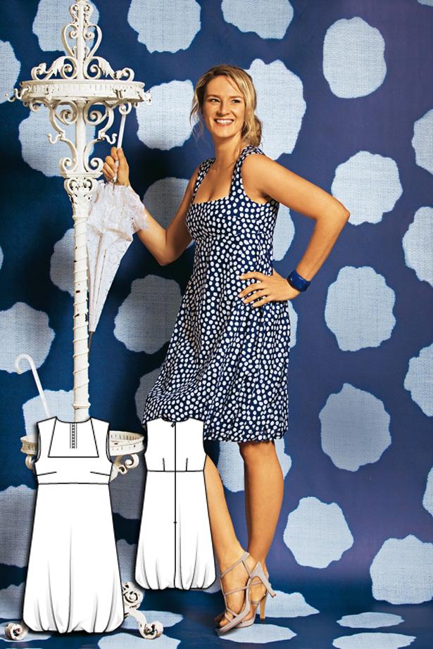 Women's bubble hem dress sewing pattern 106 052010