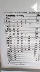 Swiss bus timetable