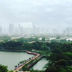 Watching the #rain over #bangkok - love how it makes the city so quiet!