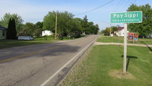 Entering Poy Sippi (Poy Sippi, Wisconsin)