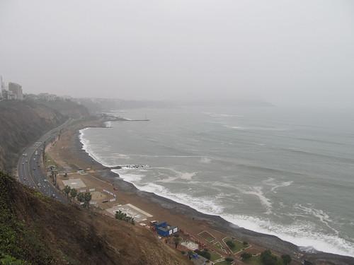 Lima: l'Océan Pacifique à Miraflores