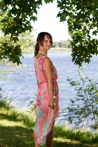 pink trees woman window nature water model dress outdoor bare redhead barefoot redhair pinkdress daugava