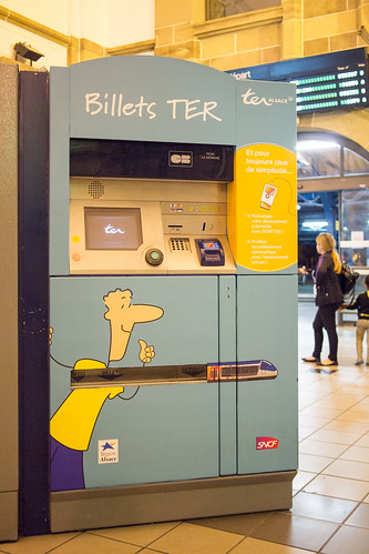 ticket machine for TER