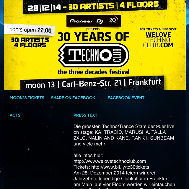 Photo:Tonite we celebrate 30 Years of Technoclub at old Cocoon Club #techno #technoclub #frankfurtmain #moon13 #talla #drmotte #headliner #celebration #anniversary #legend #cocoon #tomwax #talla2xlc By dr. motte